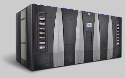 Spectra Logic TFinity LTO with over 50,100 LTO cartridge slots in a single library can scale to 3.2 EB with LTO-6/7.6 EB with TS1150.