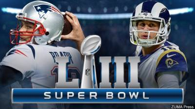 It will be a match-up of the New England Patriots and Los Angels Rams in the 2019 Super Bowl game.