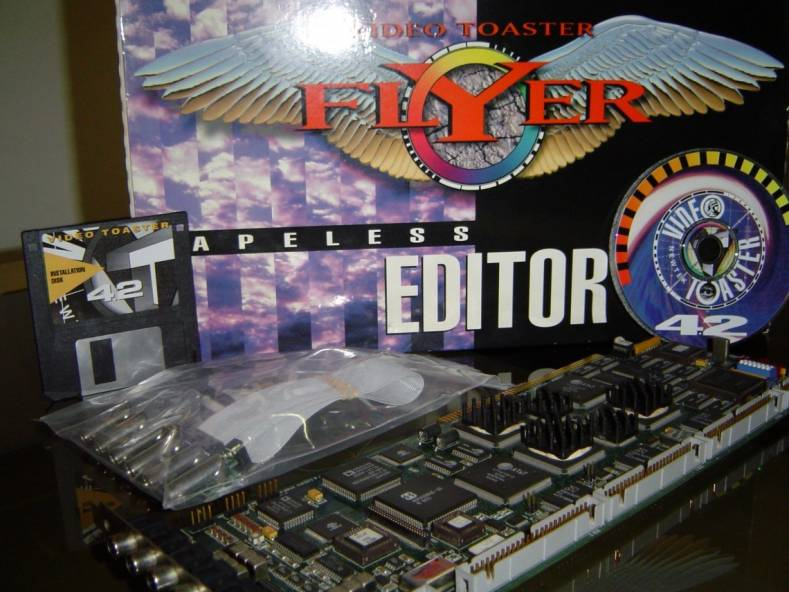 This early version of NewTek's Toaster Flyer was a highly successful entry in the NLE world circa 1993. Image: Big Book Of Amiga Hardware.