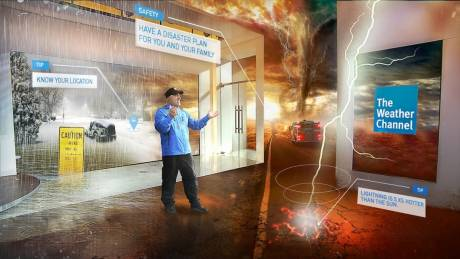 The Weather Channel is going far beyond green screen charts to make the impact of dangerous weather events real to their audiences.