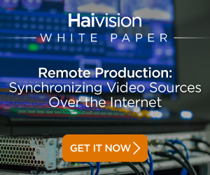 White Paper - Remote Production: Synchronizing Video Sources Over The Internet