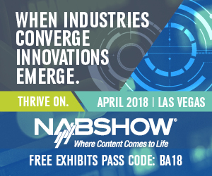 NAB Show 2018 Banner - January 2018