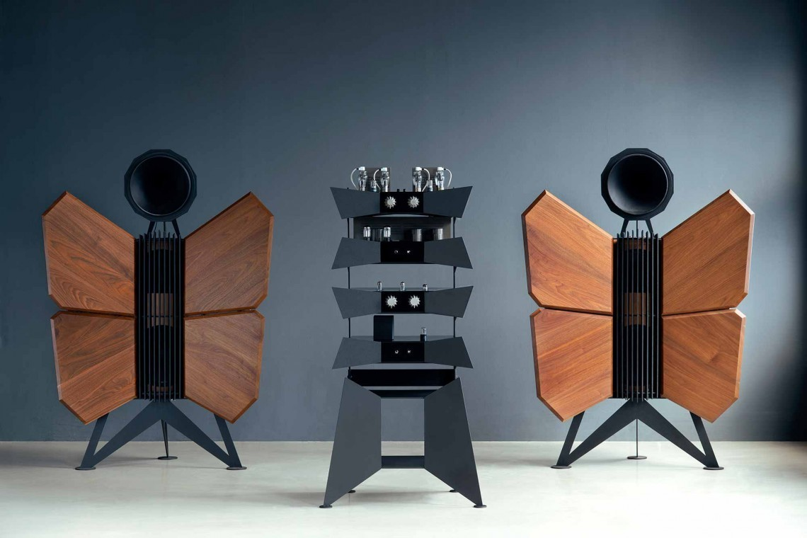 Speakers come in all shapes and sizes as demonstrated by these Oswalds Mill Audio Monarch speakers.