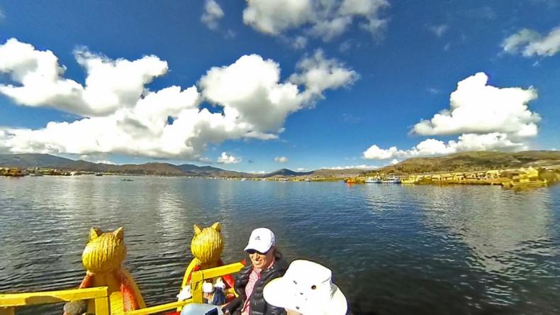 Figure 12: Lake Titicaca—Boat Bow View.
