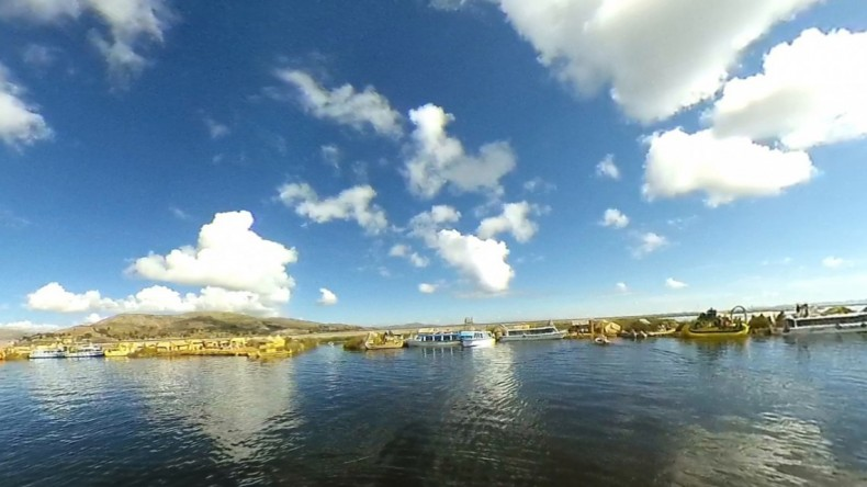 Figure 13: Lake Titicaca—Look Back at Boat Landing.