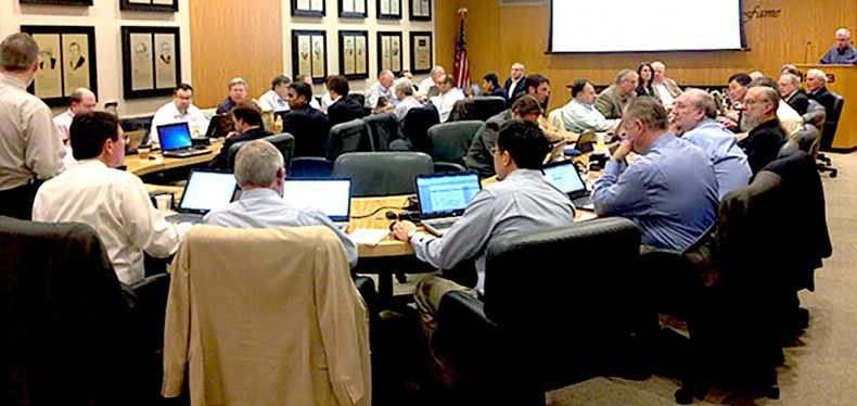 ATSC meeting. Attendees focus on helping build the industry's next broadcast platform.