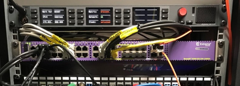 Diagram 2 – Riedel Communications RSP-2318 SmartPanel and Extreme Networks X460-G2 with multicast L2 switching and IGMP-Snooping.