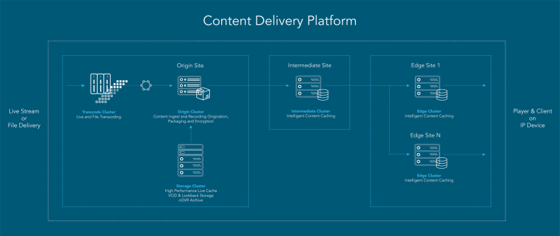 Figure 2.  The Vecima Content Delivery Platform.