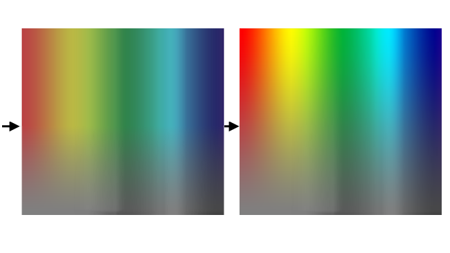 Fig 1- Wider gamut on the right image demonstrates more vibrant and intense colors. This isn't just a function of the camera but is also influenced by the file storage type, processing, and display.