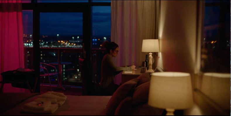 Figure 2: Shirley Henderson as Siobhan on location overlooking the Clyde in Glasgow.