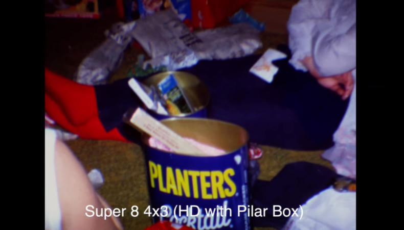 Figure 2: Super 8—4:3 framed pillar-boxed for HD, 2K, UHD, and 4K