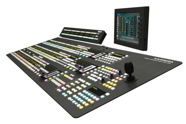 No matter the internal signal format, live production requires a familiar production GUI like that provided by this Grass Valley Kerrera production switcher.