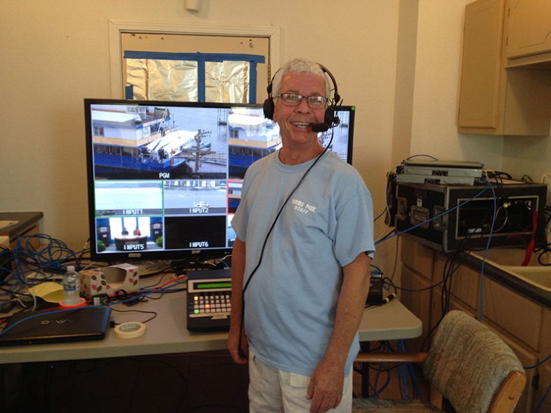 Author Ned Soseman was technical director for the two-day broadcast.