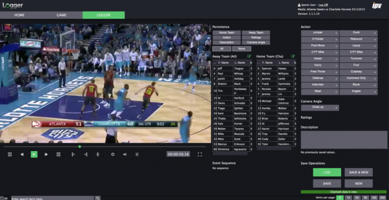 Events like dunks in basketball could eventually become recognisable by AI, meaning that logging could be at least partially automated.
