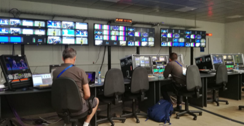 AoIP technology from AEQ included numerous AoIP Network interfaces, audio codecs, commentary units; while its sister company and Kroma by AEQ supplied broadcast monitors for the production control.