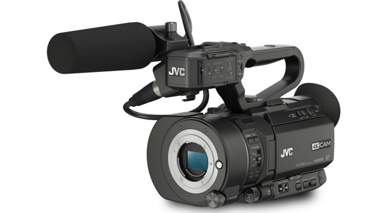 Figure 1: JVC GY-LS300—ships without lens but with shotgun mic.