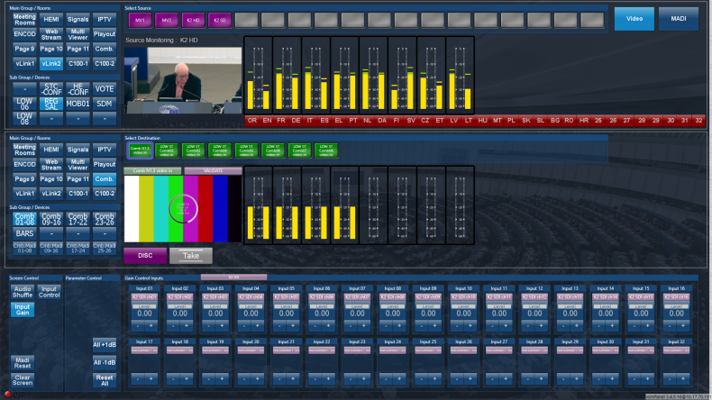 Figure 1 - Complex systems can be easily configured and greatly simplified as can be seen with this VSM control panel.