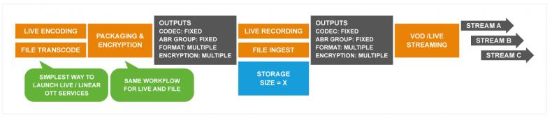 Figure 2: 1st generation Broadcast OTT – Linear OTT with Catch-up VOD.