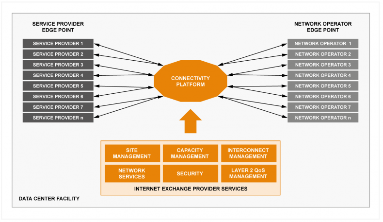 Figure 1: The role of the Internet Exchange Provider.