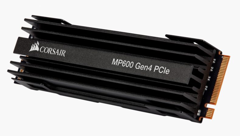 Figure 7: Corsair MP600 Gen4 SSD. (Courtesy Corsair).
