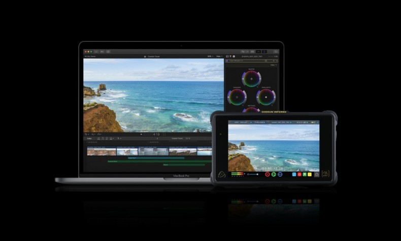 ProRes RAW files can be imported directly from Atomos Inferno to Final Cut on a MacBook Pro.