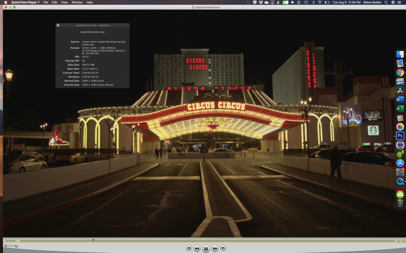 Figure 17: Export a 1080p29.97 H.264 Movie.