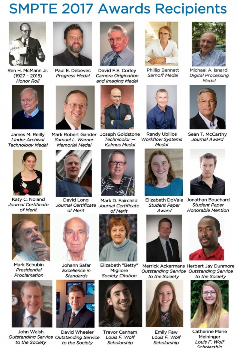 SMPTE 2017 Award Recipients
