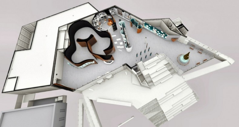 Museum Floorplan.  Image by ESI Design.