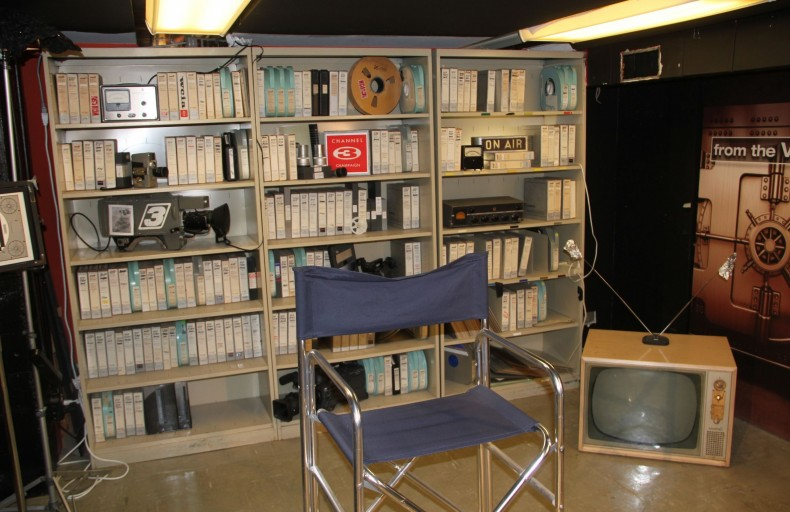 """One corner of the station's basement was turned into the set for the """"from The Vault"""" show."""
