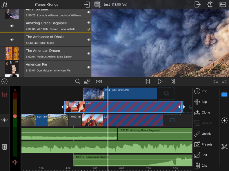 LumaFusion multi-track video editor is used by mobile journalists and filmmakers.