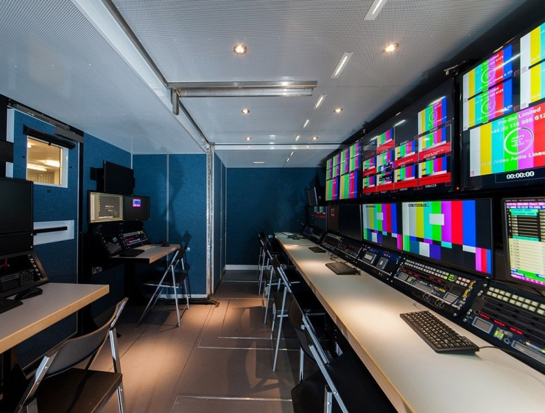 Sky Sports OBPod control room