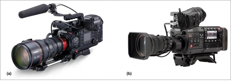 Figure 6.  a] Canon C700 FF; b) Panasonic VariCam LT.