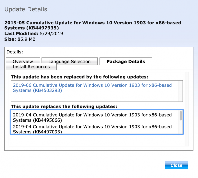 Figure 12: Windows 1903 Feature Update.