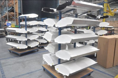 When joined together in an array, the curve of the panel casings form a smooth round wind load.