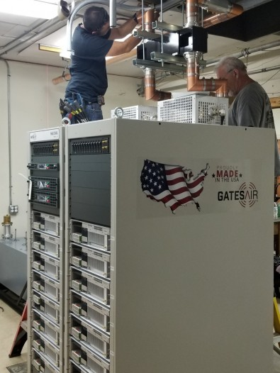 GatesAir crews are keeping repack transmitter installations ahead of FCC deadlines.