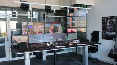 The Playout Area at TV 2 DANMARK, showing Marina in action.