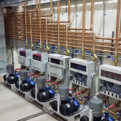 The copper plumbing in a liquid-cooled transmitter building is more than RF waveguide.