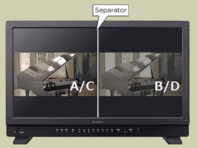By presenting split screen, the DP-V1710 lets videographers compare HDR/SDR, LUT's. and different LOG recordings.
