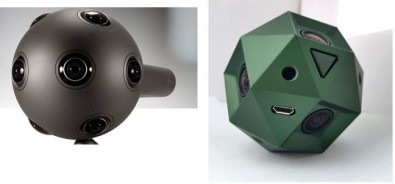 The market for 360 and VR cameras is growing. Left Nokia Ozo ($15K), right Sphericam, which includes internal image stitching.
