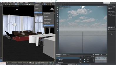 3ds Max 2018 with the interactive VR Viewport.
