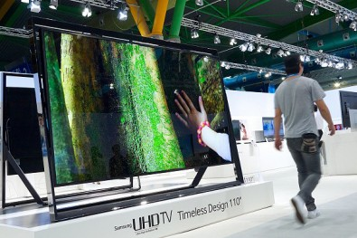 110-inch Samsung TV on display at CES