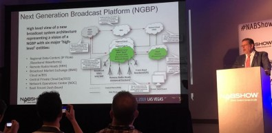 Mark Aitken shared his overview of the 'Next Generation Broadcast Platform.'