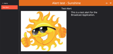 SBG is testing alerts for the Broadcast App.
