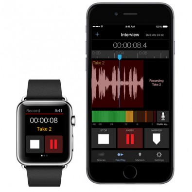 Essential features of MetaRecorder can also be controlled from an Apple Watch.