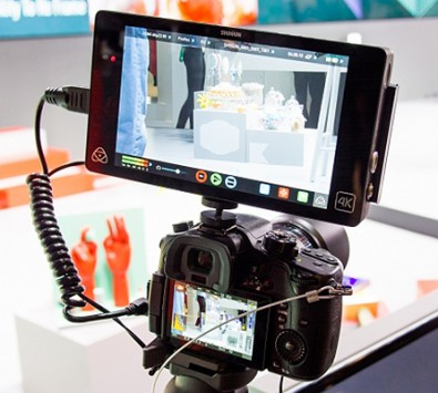 Mounting an Atomos recorder/monitor directly on the camera provides a professional 4K quality monitor complete with options.