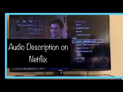 OTT providers like Netflix are now offering audio description features for many of its most popular titles.