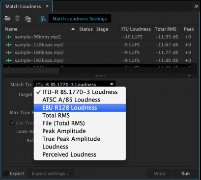 Audition CC--matching loudness and limiting peaks