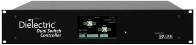 Powered by Burk Technology, the Dielectric DRFSC can control up to two, four-port RF switches to provide flexible RF routing in systems with auxiliary transmitters and/or antennas. Users can locally activate control from its front panel, or remotely through a web browser interface.