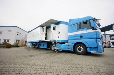 At the event, Broadcast Solutions will present several large OB Vans being constructed in their production hall in Bingen, Germany.