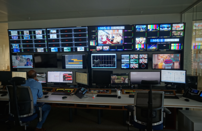 Several Master Control suites monitor the myriad of IP signals moving around the building.